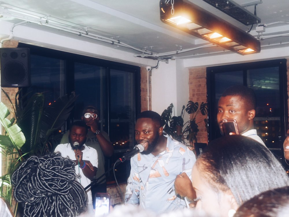 Mr Solek making the crowd feel like we were enjoying Lagos nightlife