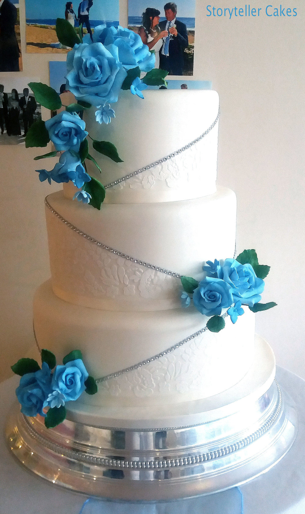 Blue & White Lace Wedding Cake 1.jpg