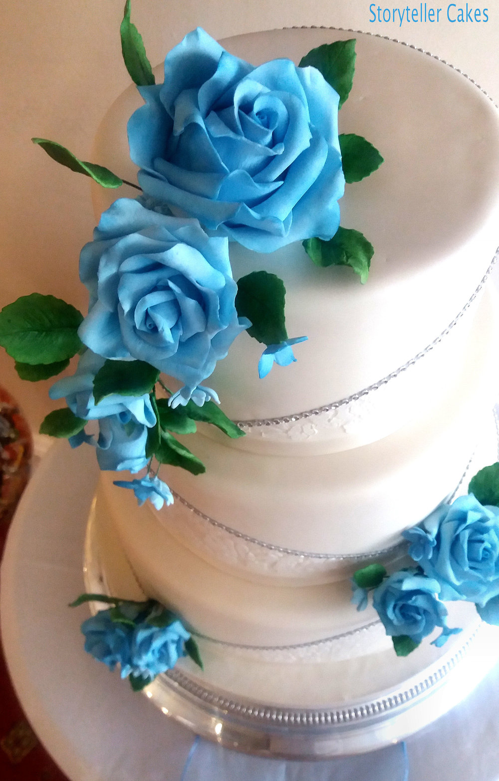 Blue & White Lace Wedding Cake 2.jpg