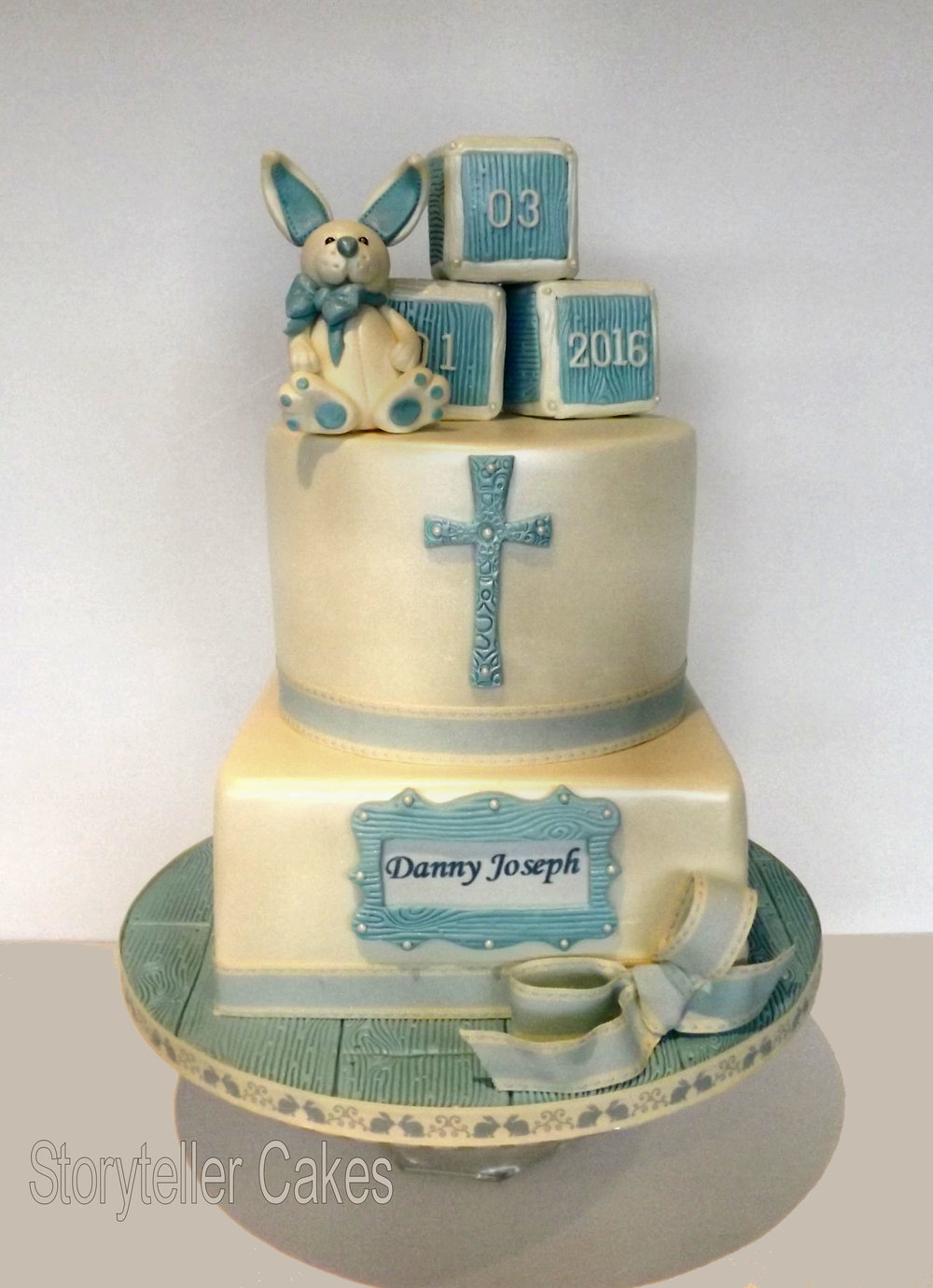 Boys Christening Cake - Rabbit.jpg