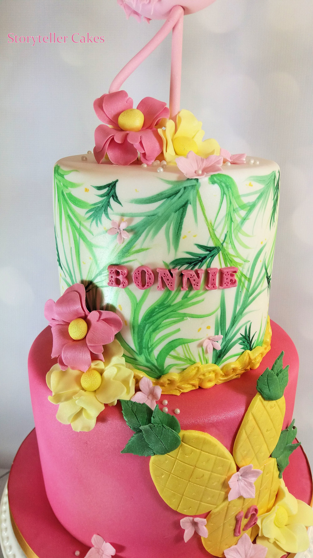 Flamingo Girls Birthday Cake 2.jpg