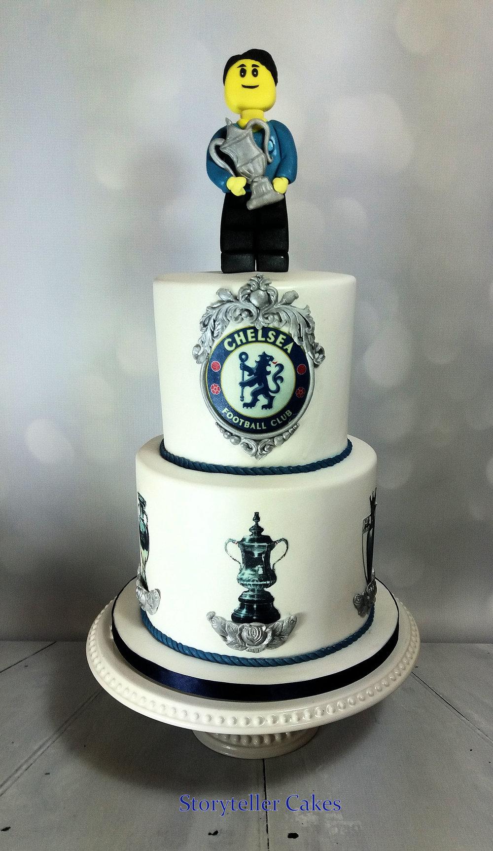Chelsea Football lego cake 2.jpg