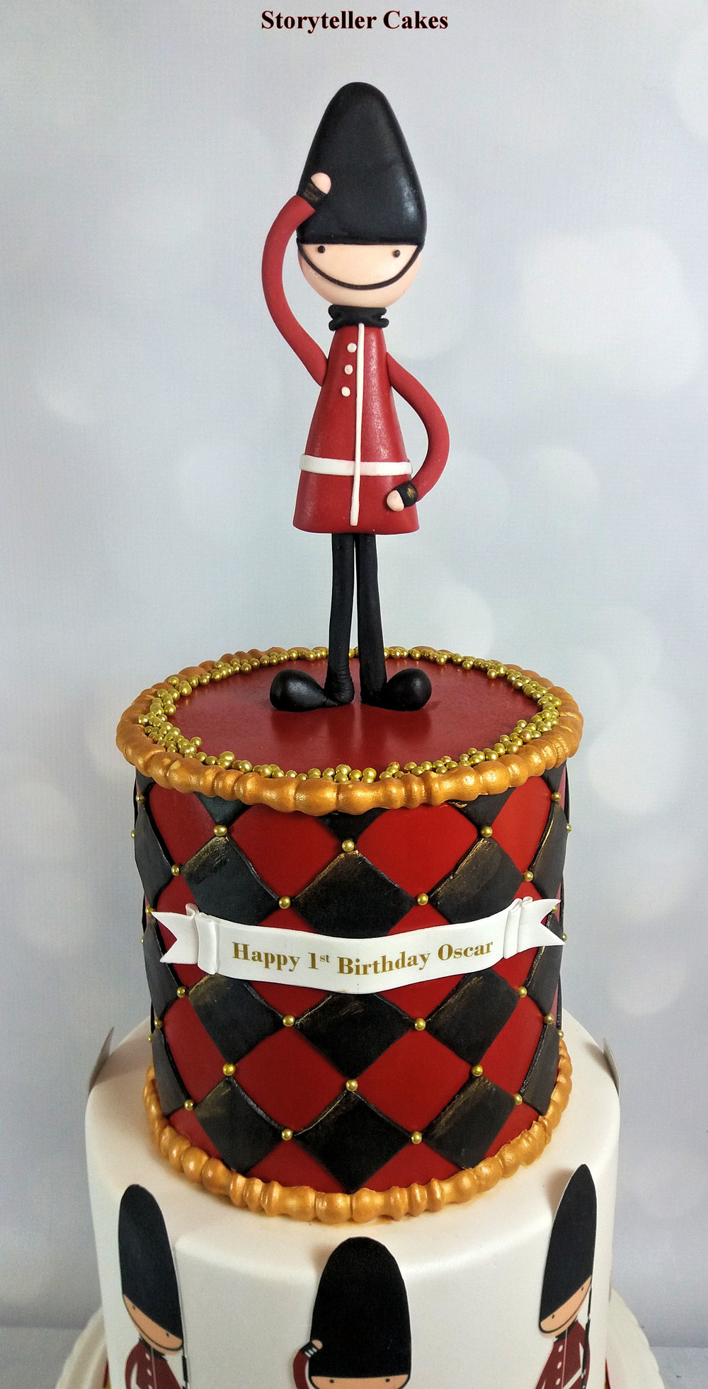 Queens Guards Boys 1st Birthday Cake 2.jpg