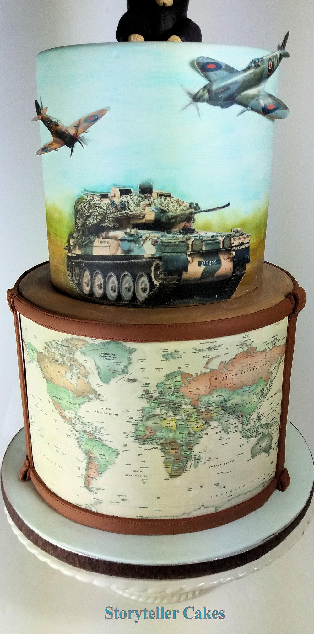 Army Tank Spitfire Birthday Cake 2.jpg