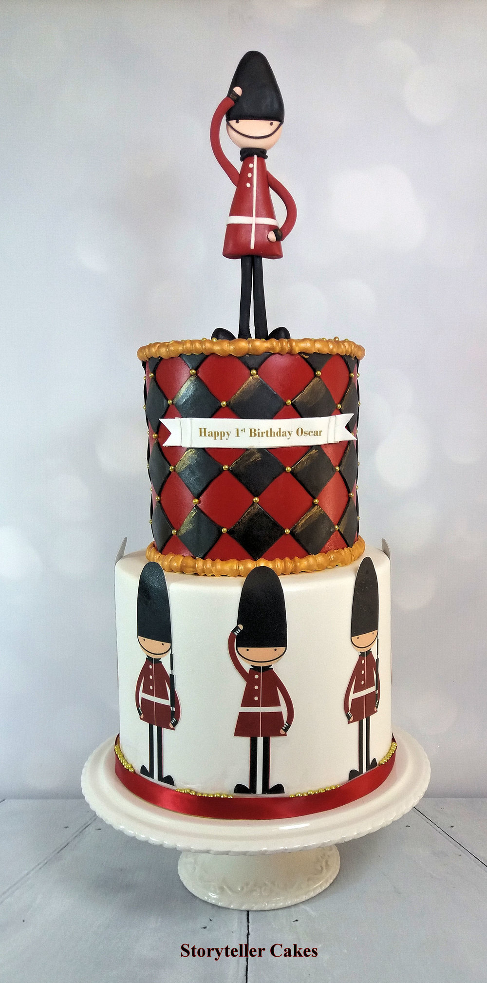 Queens Guards Boys 1st Birthday Cake.jpg