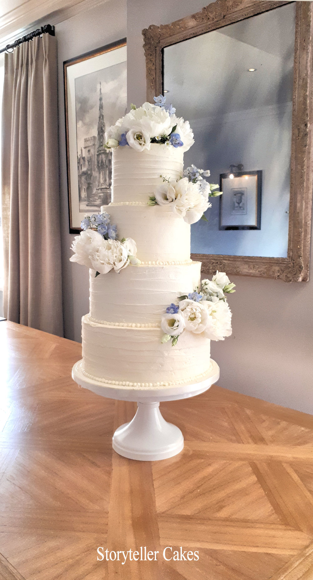 Beautiful Buttercream Ruffle and peony wedding cake2.jpg
