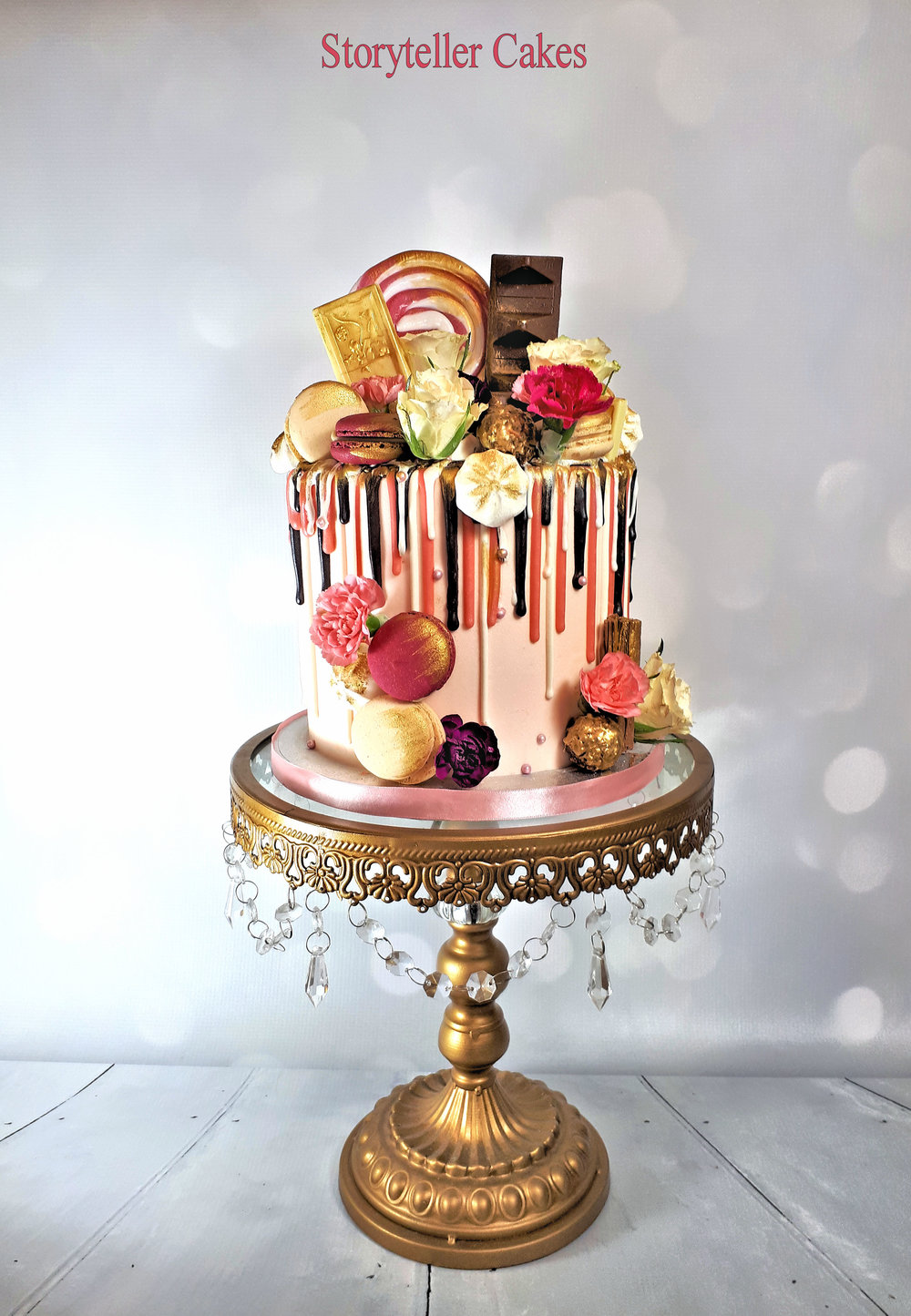 pink and gold drippy birthday cake.jpg