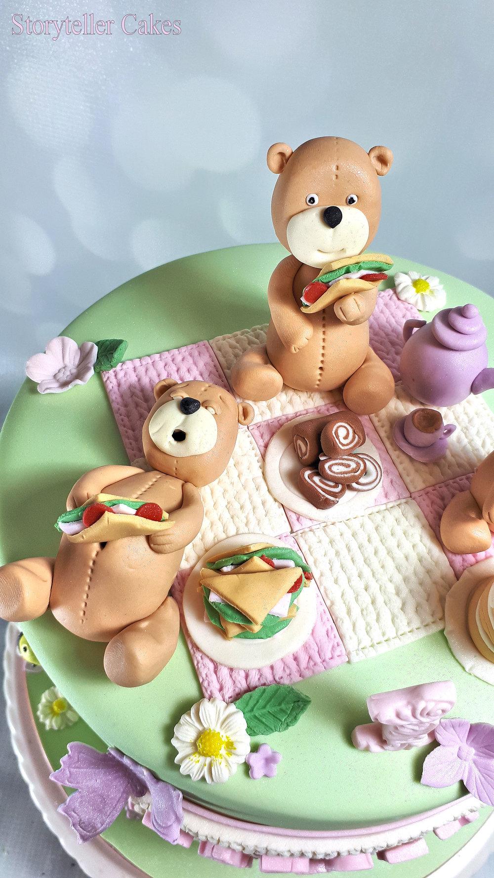 Teddy Bears Picnic 1st Birthday Cake For Girls3.jpg