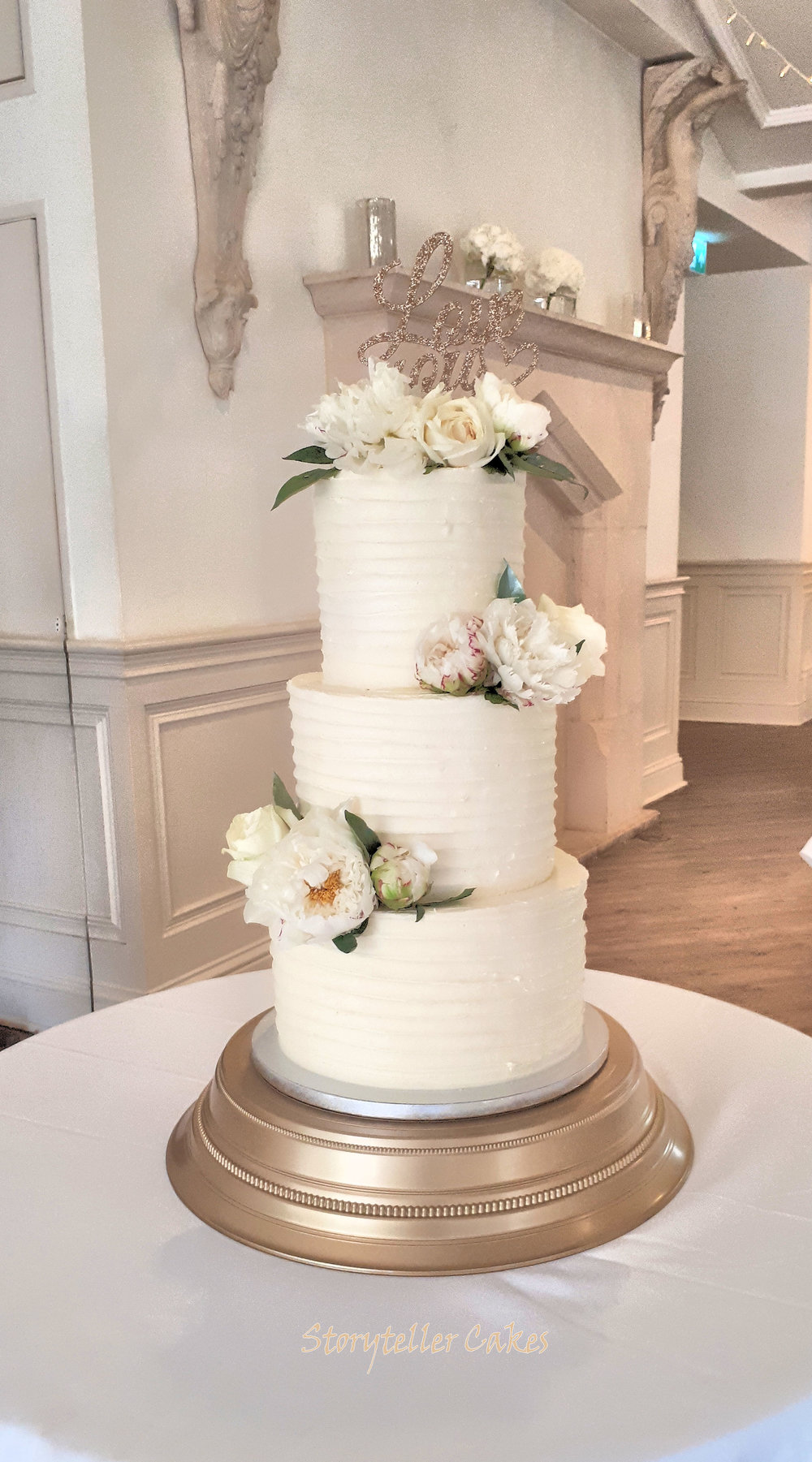 Buttercream Ruffle Wedding Cake With Fresh Peonies.jpg