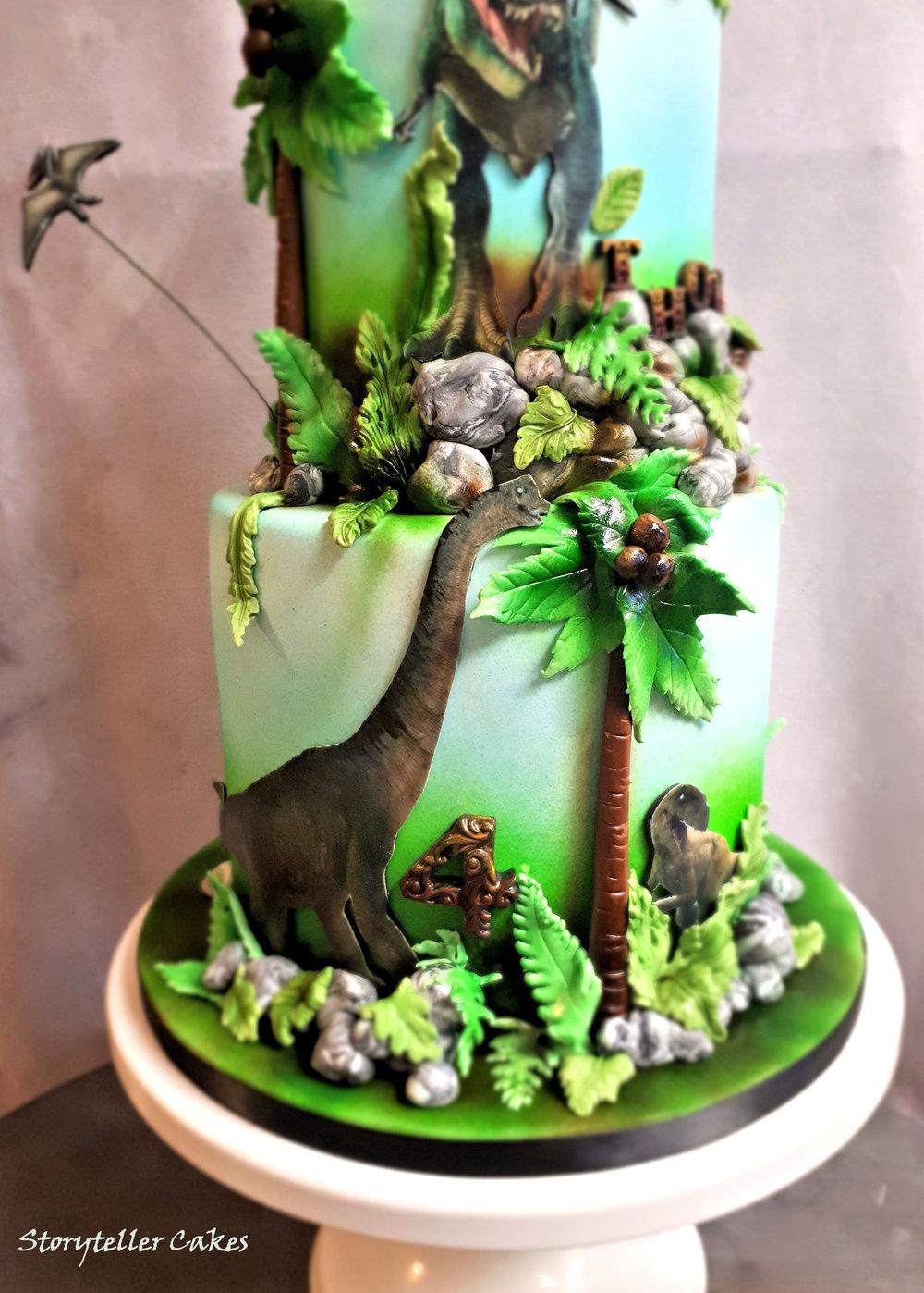 T-Rex Dinosaur Birthday Cake5.jpg