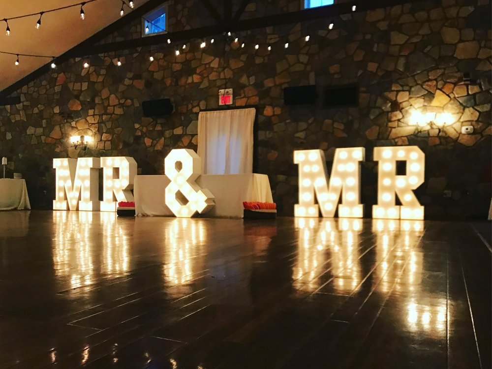 MR & MRS Marquee Light Rentals