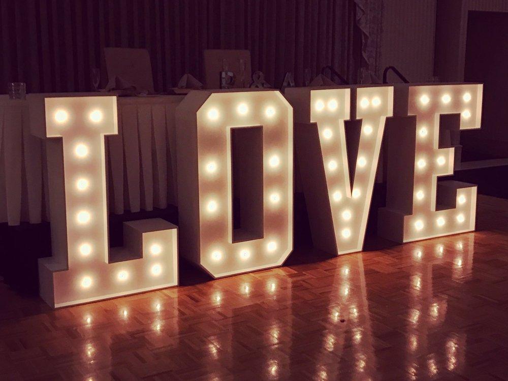 LOVE Marquee Light Rentals