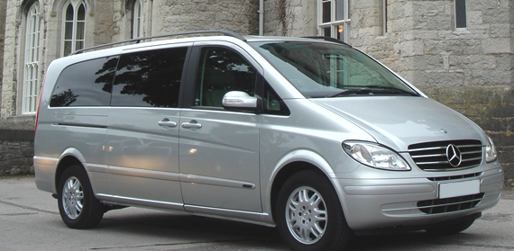 Our Mercedes Benz Viano MPV is perfect for Manchester Airport transfers with plenty of room for all your bags and up to six people.