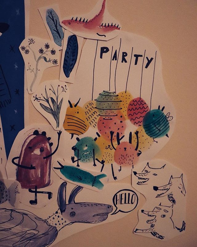 Filling up my wall with some of my doodles, gives me motivation to draw draw draw! #draw #drawings #art #artist #artistic #artistsoninstagram #illustration #illustrator #illustratorsoninstagram #creative #monsters #imagination #doodles #sketch #sketchbook #kidlit #kidlitart #childrensbooks #instagood #instagram #instadaily #photography #inspiration #watercolour #ink