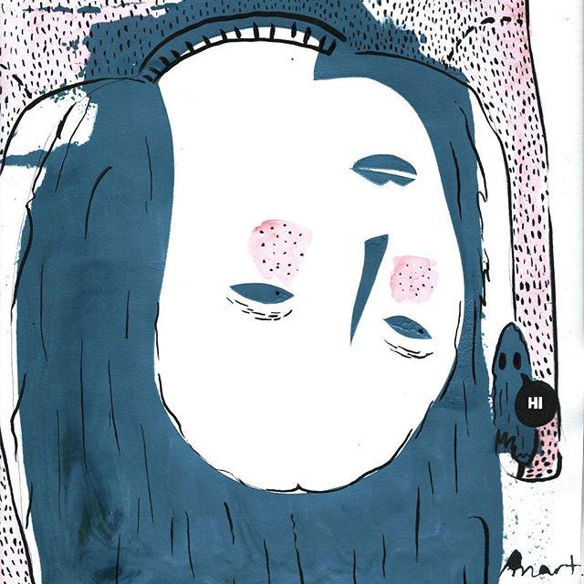 Starting a drawing challenge to motivate me: your bright self 😎 #illustration #illustrator #illustratorsoninstagram #art #artist #artistic #artistsoninstagram #print #printmaking #printmaker #design #photoshop #ghost #myself #girl #girls #colour #watercolour #pen #draw #drawing #litart