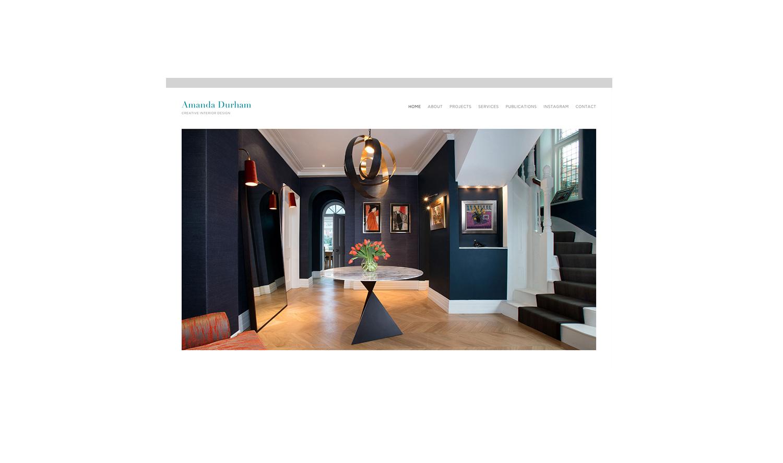 Amanda Durham Portfolio website for West London based interior designer.  AMANDA.png
