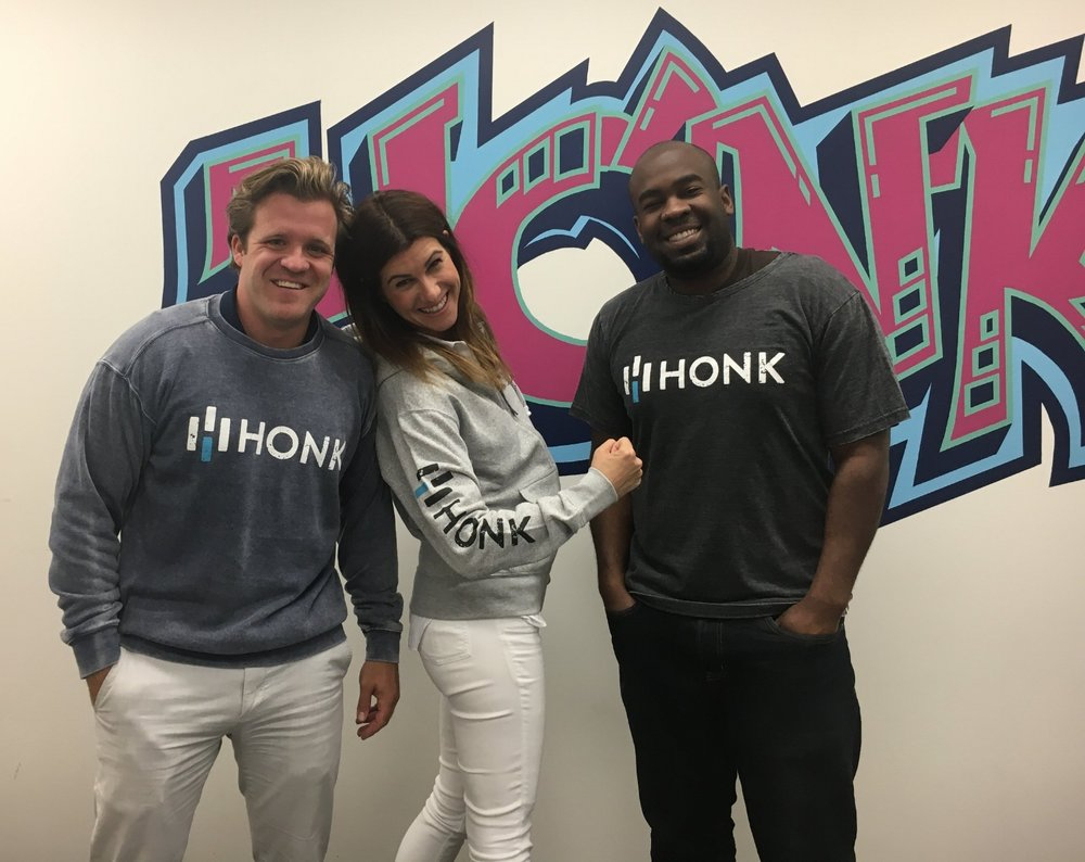 Sales & Customer Support/Operations reppin' the new Honk gear.