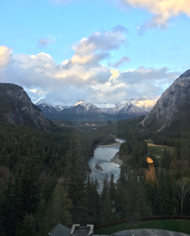 Pictured: Can we please take a minute to take in these hotel #views? Yep. Beautiful slice of Canada right there. You can't have a #CPABanff2017 blog post without at least one picture of the beautiful landscape, duh!