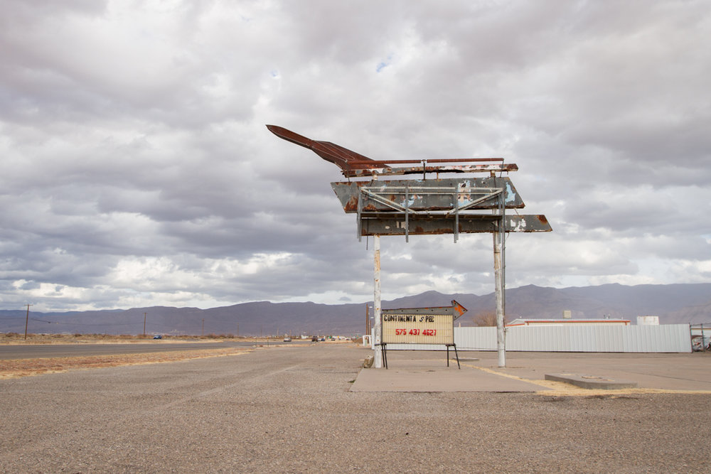 Abandoned Rocket Motel Sign - Alamogordo, New Mexico - 2013