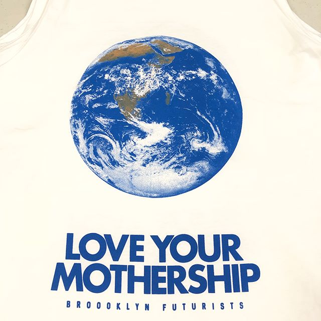 🌌📡❤️🌍🛸🚀🌌I'm pumped to announce this new special edition BROOKLYN FUTURISTS #loveyourmothership design we did exclusively for the @adhocnyc shop! You can pick up tees and tanks while they last at their store on Bedford Ave. next to Five Leaves on the border of Greenpoint and Williamsburg. Support local business and help spread the message! Screen printed by @bktees. Want to be a Brooklyn Futurist? Get a shirt and start having conversations about it! What does it mean? Reach out and let's talk. I have been transported to Western Mass and the Catskill Mountains on this latest Space Age Museum adventure of grad school and homesteading but my heart and mind are still strongly connected to BK NYC. I will be back! - 💋👽🌌LOVE PK. #brooklynfuturists #loveyourmotherearth #loveyourmother #thefutureisfemale #futurists #activist #streetwear #environmentalist #feminist #futurist #spaceshipearth #mothership #shoplocal #brooklyn #greenpoint #williamsburg