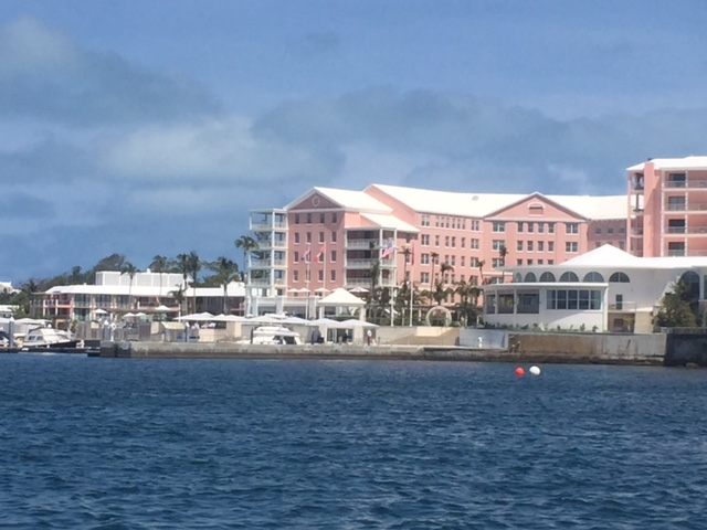 Beautiful  Hamilton Princess Hotel  - our first location in Bermuda!