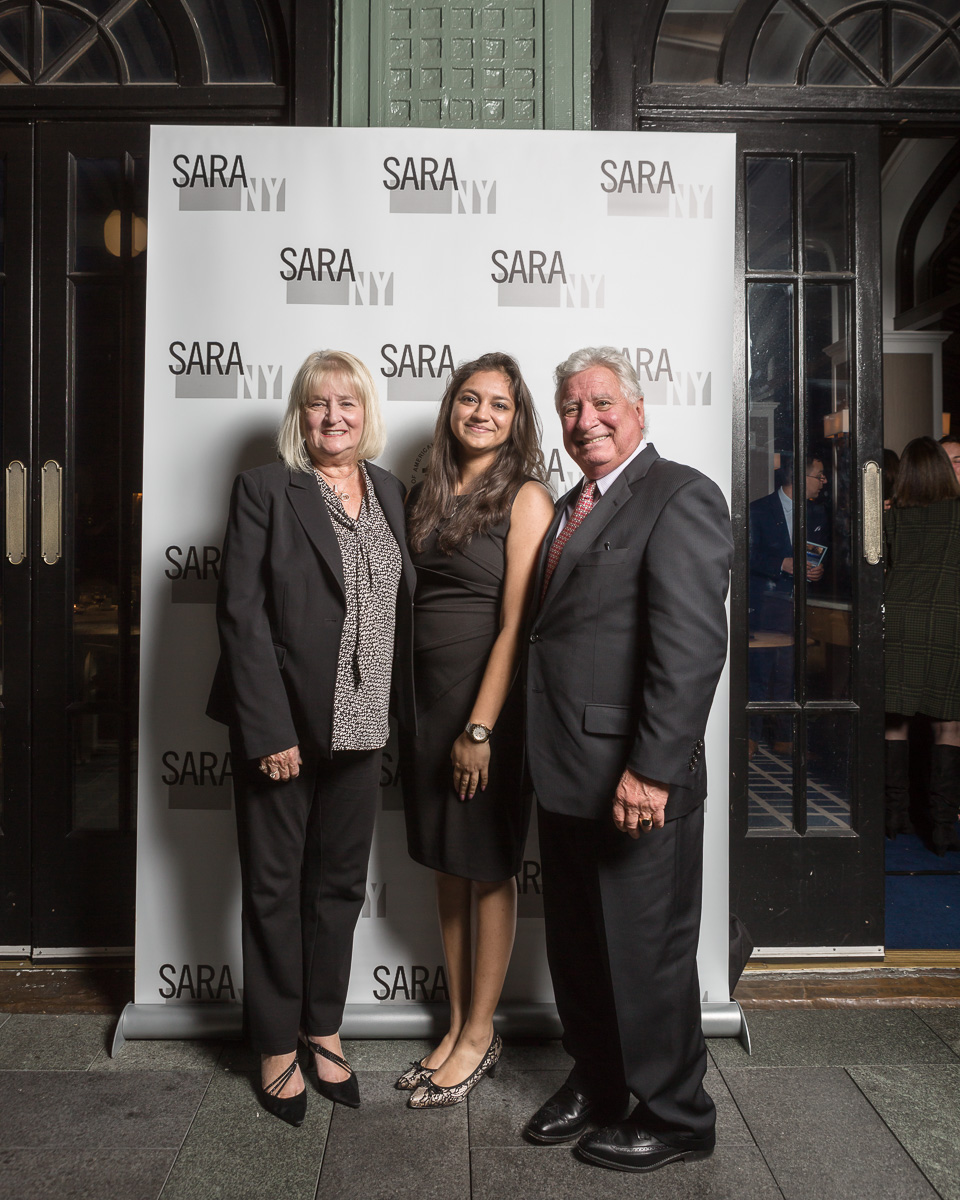Helene and Michael J. Macaluso, FARA, Co-Chairs of the Sean F. Mellon Memorial Scholarship Fund with Meghna Majethiya