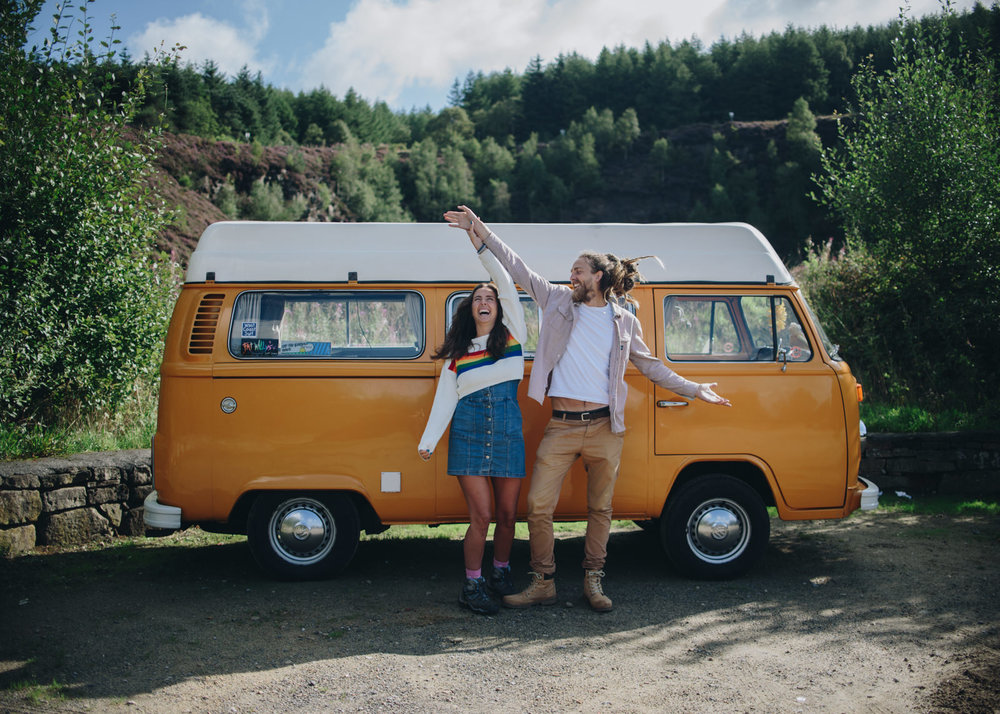 VW Campervan Adventure Engagement Photography