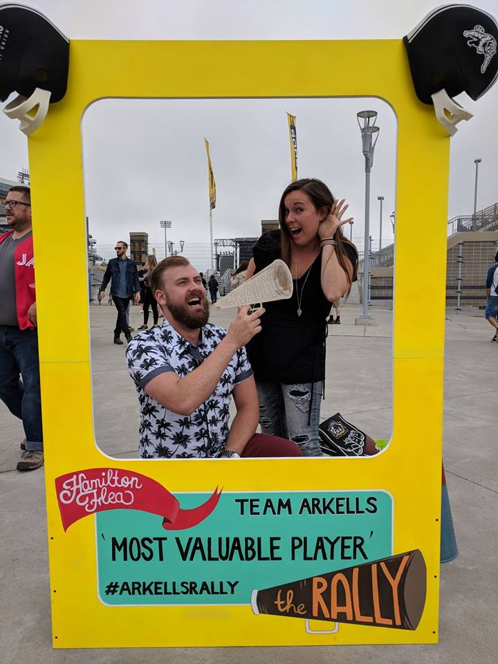 People's Champ - Photo frame produced for the Arkells Rally