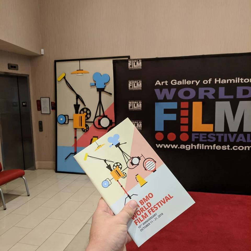 3D Poster - Backdrop for the 2018 AGH Film Festival based on artwork by David Trautrimas