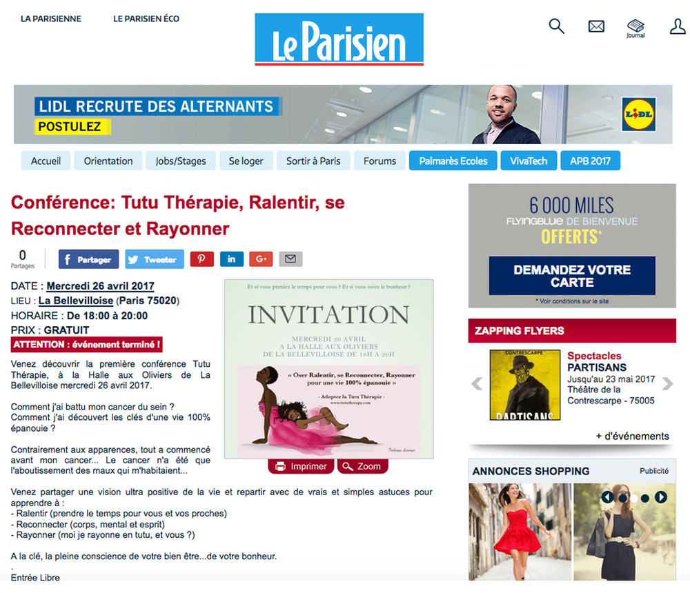 parution tutu therapy le parisien