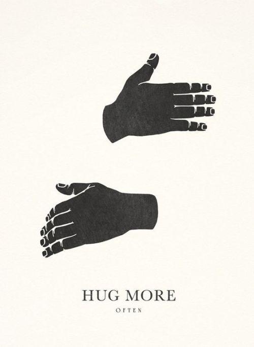 prendre dans les bras