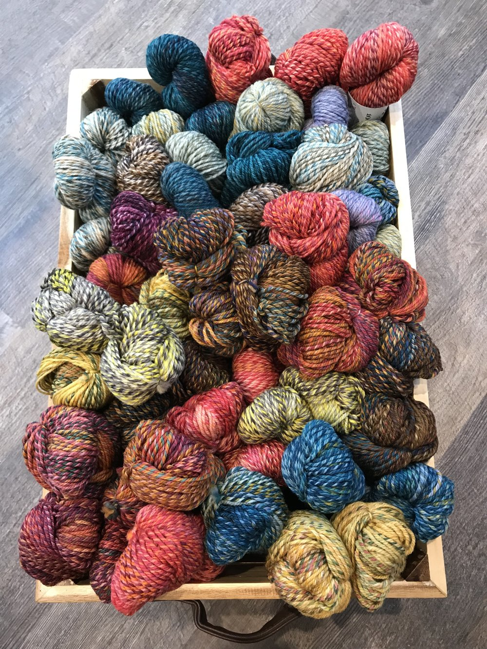 Spin Cycle! - Ok, so we are obsessed with all the beautiful colors by the women of Spin Cycle. We are so excited to have Dream State & Dyed in the Wool in store. Our supplies can be limited based on its popularity, but we do our best to have it in stock.