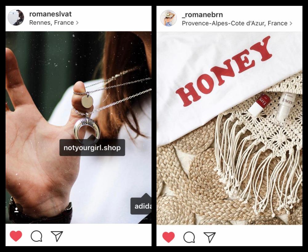 Romane  (again parce qu'on aime trop ses looks et ses photos) porte nos petits   colliers lune et médaille   .   RomaneBrn  (décidément ahah) nous a fait une très jolie photo   du tee-shirt Honey  .