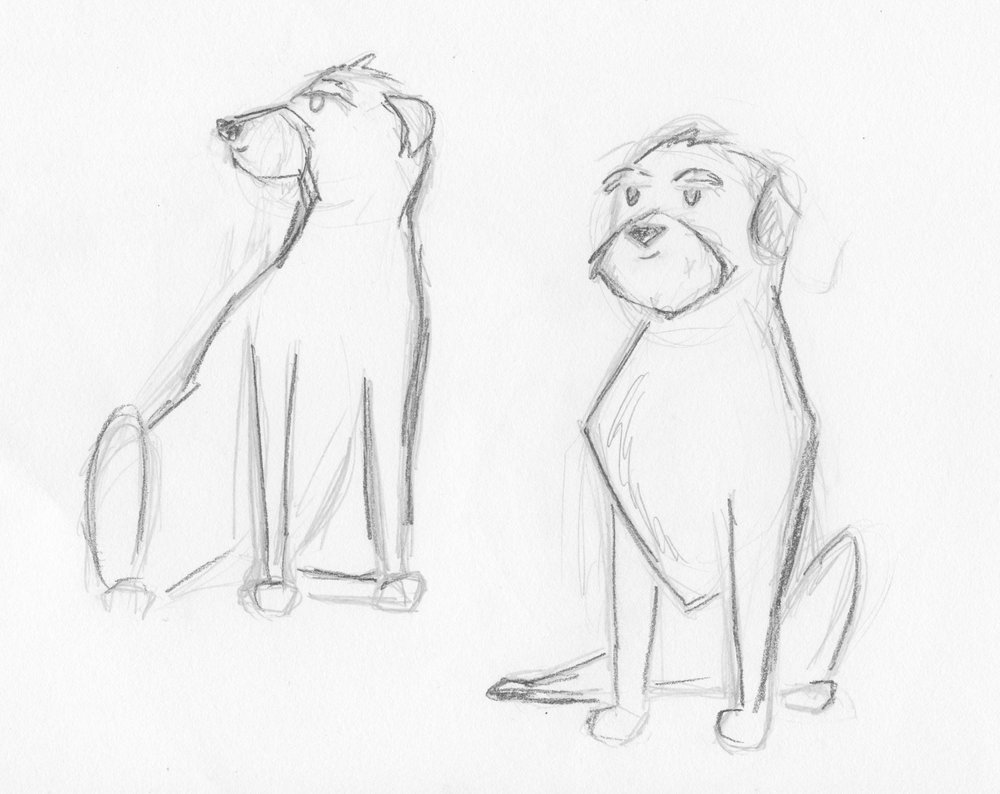 - Character exploration of the lead dog Stout showing his proud stance and healthy posture.