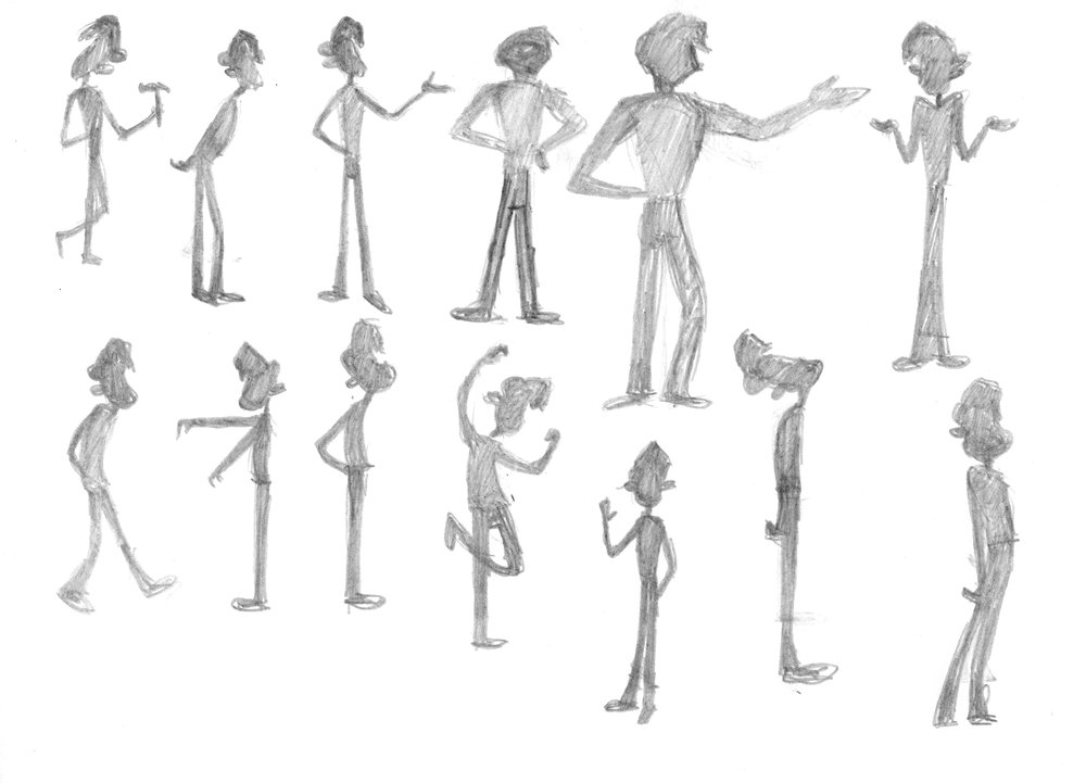 More character silhouettes.