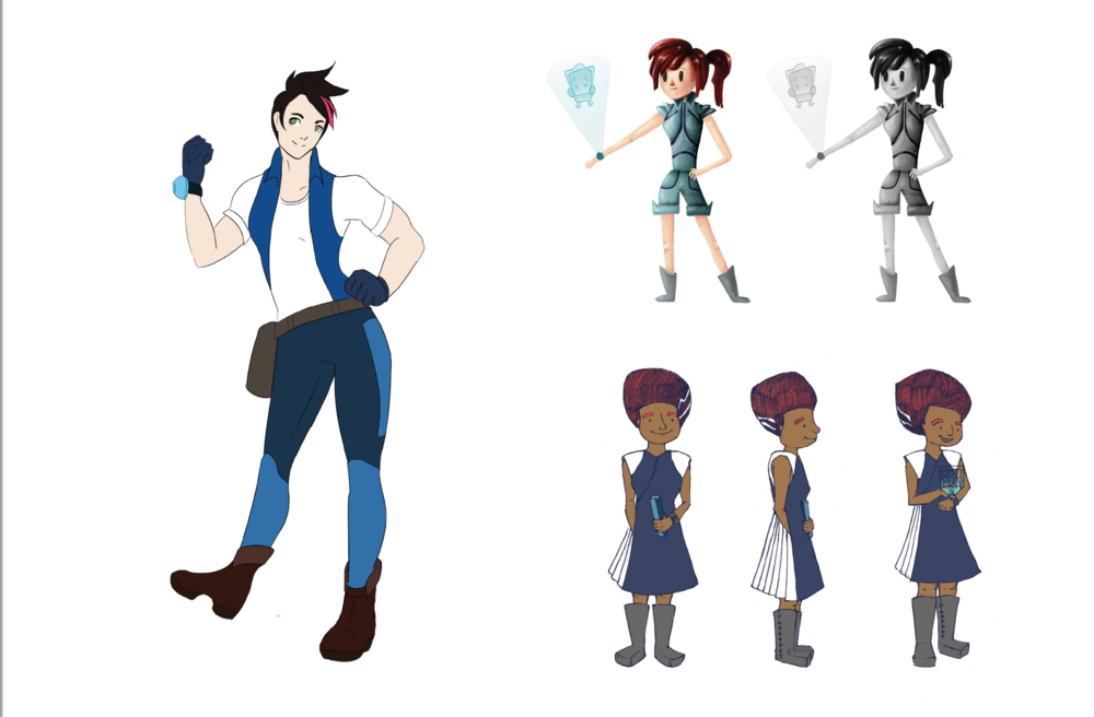 Refining character design.