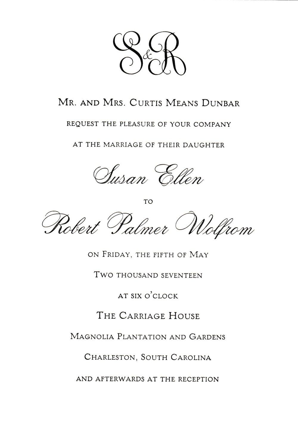Wedding — Reaves Engraving