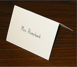 Option A - Tent Card with Name on Front