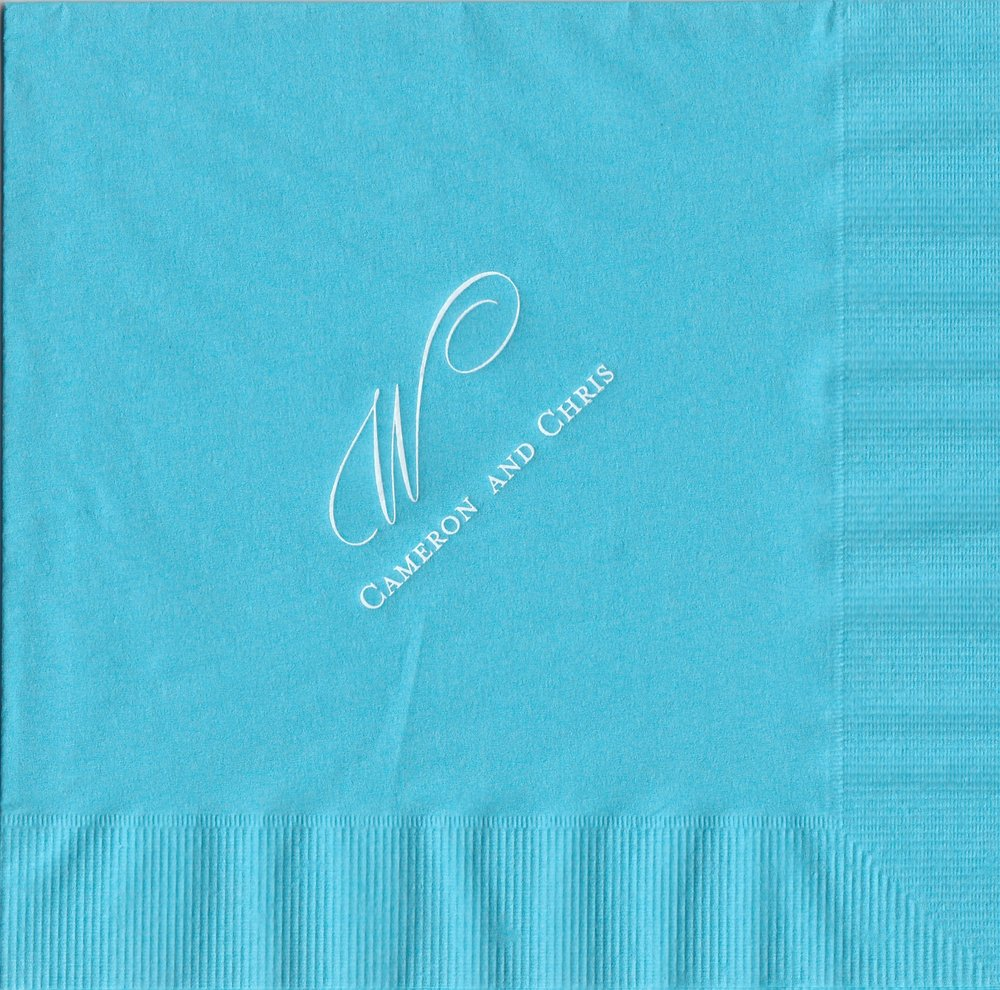 Napkin: Marine  Imprint: White Ink  Luncheon  Sample 2