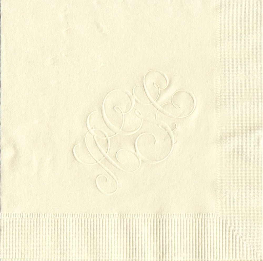 Napkin: Ecru  Imprint: Embossed  Beverage  Sample 8
