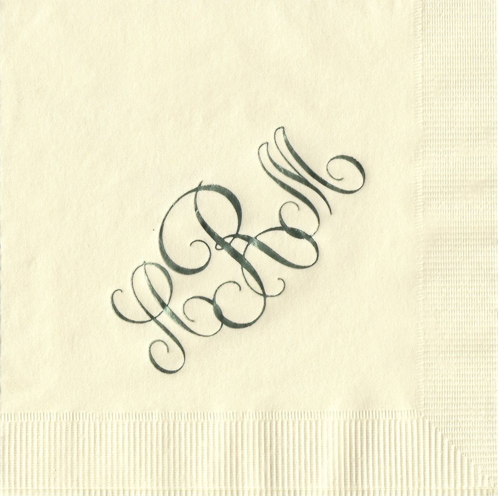 Napkin: Ecru  Imprint: Sage Ink  Beverage  Sample 10