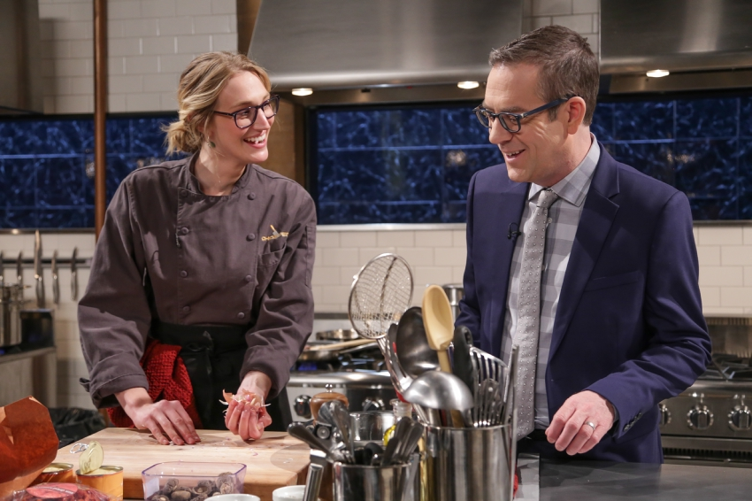KATIE QUINN  with  TED ALLEN  of   CHOPPED.