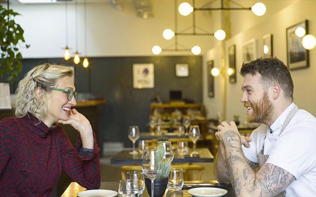 "Had the opportunity to interview @cheftombrown over the weekend for a @food52 video series about the coolest things happening in London right now 🤙 Getting the chance to sit down and chat with the man who is London's ""it"" young male chef, with his hit Hackney Wick restaurant @cornerstonehackney , was such fun and a good reminder that talent gets people places & and passion is contagious. Excited to see what Tom continues to do in what's sure to be an influential career. Interviewed other amazing people for the London-focused video, too (will dish on the deets later!) and this AM took a train to Edinburgh for more video shoots in Scotland today & tomorrow! 🏴󠁧󠁢󠁳󠁣󠁴󠁿 🎥 @wellerisnothere"