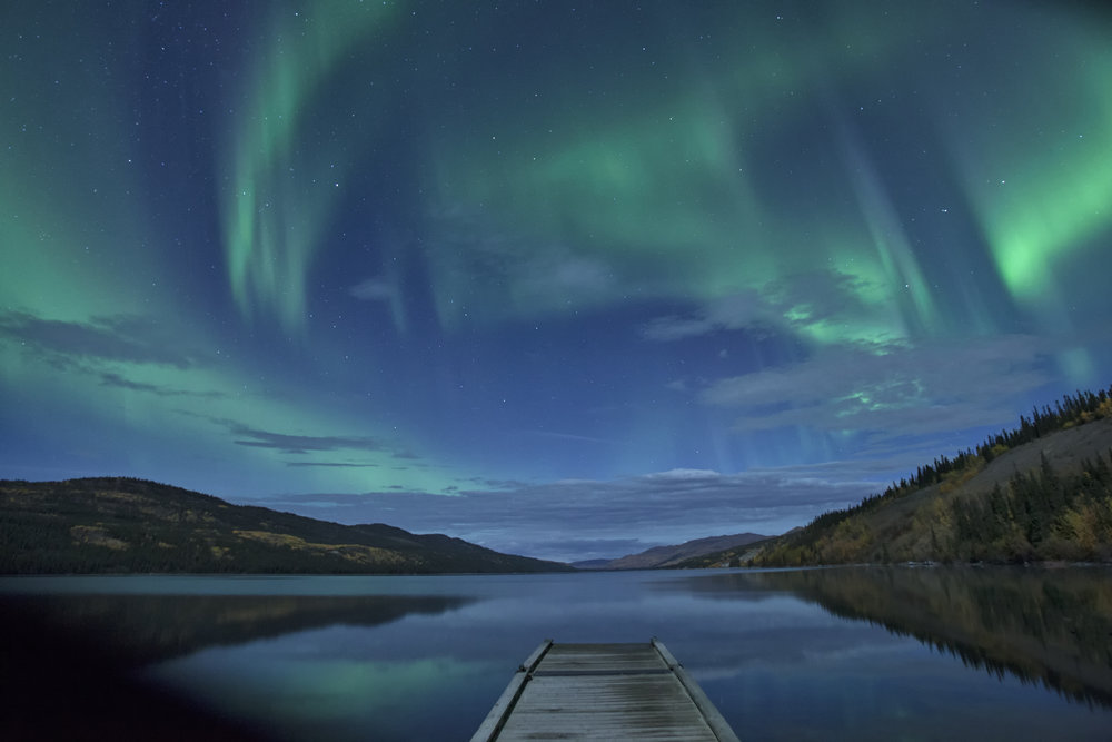 Fox Lake Aurora - Across the Blue Planet