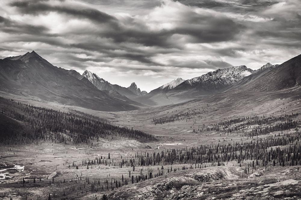 Tombstone Mountain Range - Across the Blue Planet