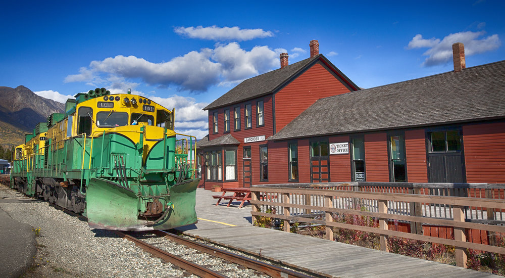 Carcross Train Station - Across the Blue Planet