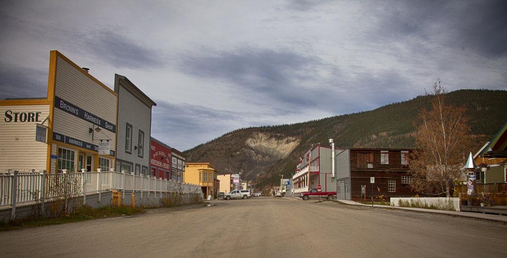 Dawson City Street View - Across the Blue Planet