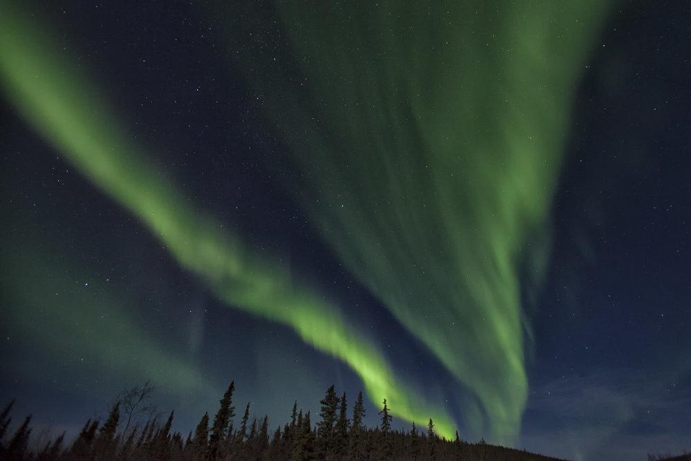 Aurora in Yukon - Across the Blue Planet