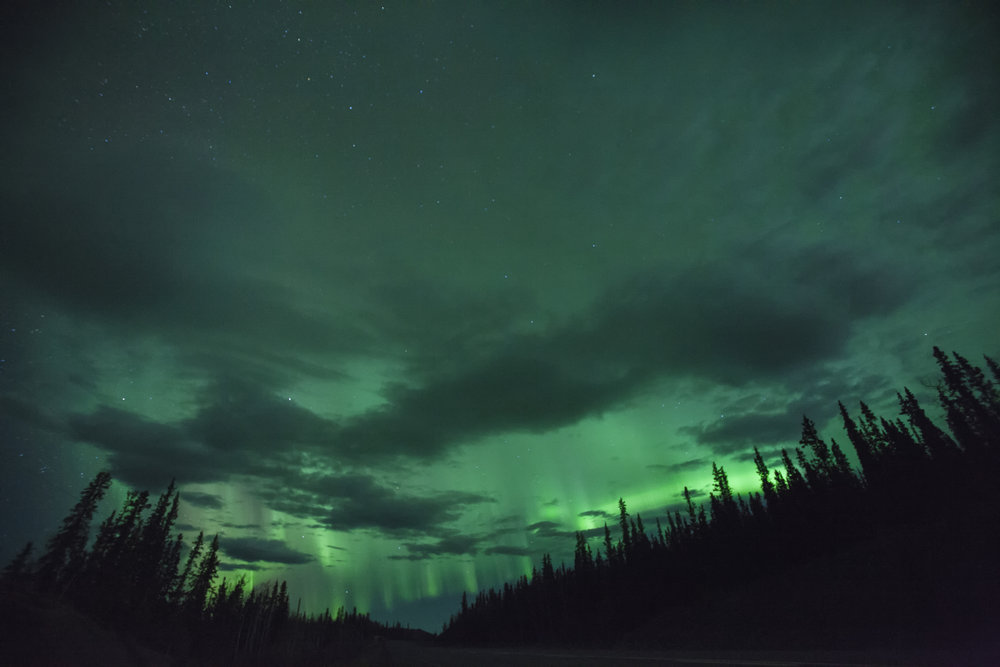 Lady Aurora in Yukon - Across the Blue Planet