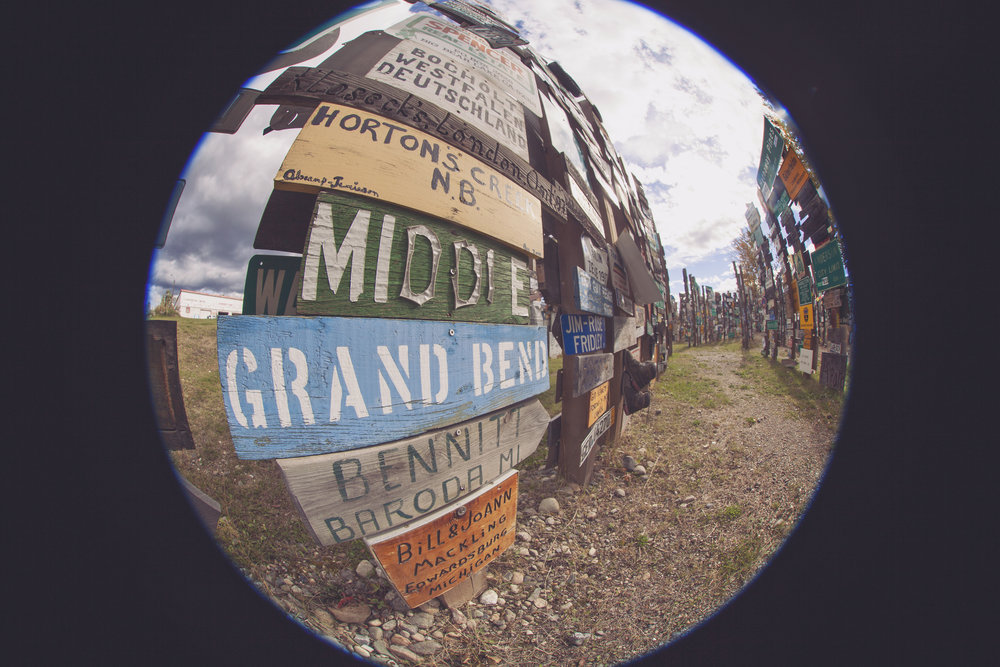 Grand Bend in the Sign Post Forest - Across the Blue Planet